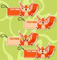 Four cute cartoon Squirrels stickers vector image vector image