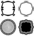Frame Set ornamental vector image vector image