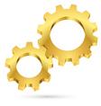 Golden gearwheel vector image vector image