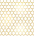 golden texture oriental geometric seamless pattern vector image vector image