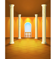 Hall with columns and balcony vector image vector image