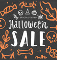 halloween sale template vector image vector image