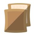 halved bread bakery breakfast design shadow vector image vector image