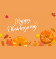 happy thanksgiving holiday autumn fall pumpkin vector image