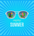 hello summer vintage background vector image vector image