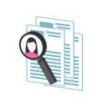hr management recruitment candidate symbol flat vector image