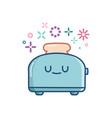 kawaii toaster icon cartoon vector image