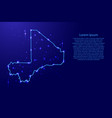 map mali from the contours network blue luminous vector image vector image
