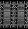 meander greek key black white seamless pattern vector image vector image