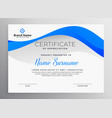 modern blue professional certificate template vector image vector image