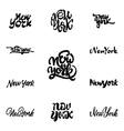 New York - hand drawn calligraphy and lettering vector image vector image