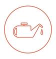 Oiler line icon vector image vector image