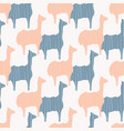 pastel pink and blue llama silhouette seamless vector image
