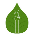 peace hand symbol vector image vector image