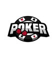 poker game logo emblem vector image