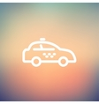 Police car thin line icon vector image vector image