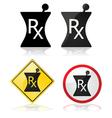 Prescription signs vector image vector image