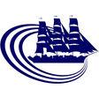 Sailing ship 3 vector image vector image