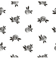 Seamless polka dot floral pattern with scrible vector image vector image