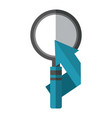 search magnifying glass with arrow up icon vector image vector image