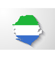 sierra leone map with shadow effect vector image vector image
