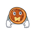 silent baket pie mascot cartoon vector image vector image