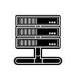 silhouette wifi router technology to web access vector image vector image