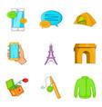 snapshot icons set cartoon style vector image vector image
