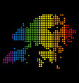 spectrum dotted lgbt hong kong map vector image