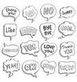 speech bubbles with dialog words sketch bubble vector image vector image