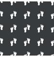 Straight black footprint pattern vector image