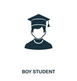 student boy icon line style icon design ui vector image