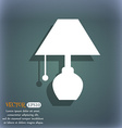 table lamp icon On the blue-green abstract vector image