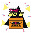 the 80s design vector image