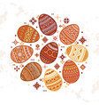 the circular template of colorful easter egg vector image vector image