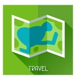 Tourist creative of map in flat style vector image vector image