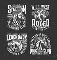 tshirt prints with horse stallion heads sport vector image vector image