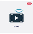 two color stream icon from user interface concept vector image vector image