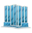 Urban glass tall buildings vector image vector image