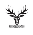 vintage hunting and fishing design template vector image