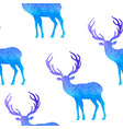 watercolor christmas pattern with deer vector image vector image