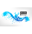 Wave splash vector image vector image