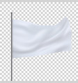 white white flag template clean horizontal waving vector image