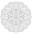 tribal ancient mandala symmetrical round east vector image