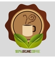 Delicious natural and organic coffee vector image