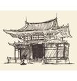 Sketch Chine Japan Landmark Vintage vector image