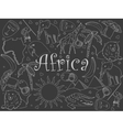 Africa chalk vector image