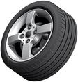 Alloy wheel isolated vector image