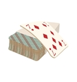 Playing cards deck cartoon icon vector image