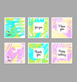 set of creative universal abstract art posters vector image